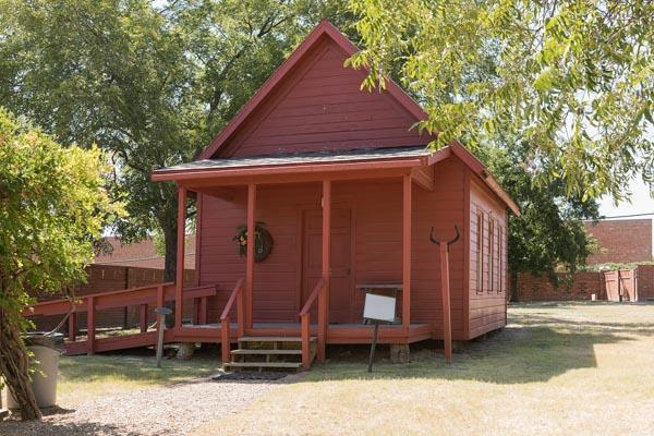 A replica of a classic schoolhouse from an earlier generation in Plano, Texas