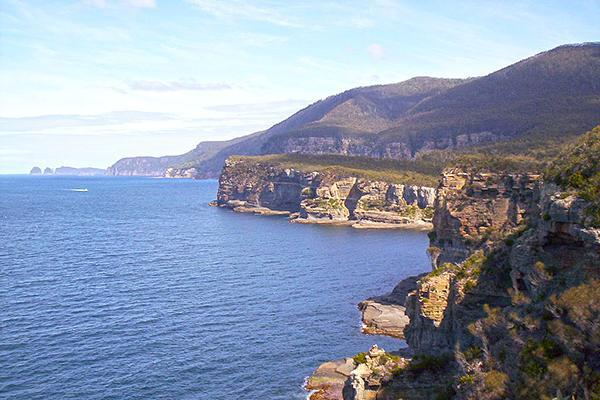 Coastal cliffs of the Tasman Peninsula, Tasmania, Australia